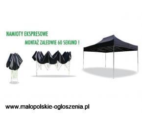 namiot handlowy ekspresowy 3x6 ze scianami