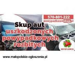 Skup samochodów uszkodzonych, Skup samochodów powypadkowych Kraków
