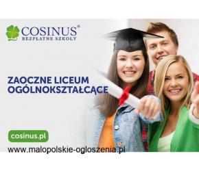 Liceum Ogólnokształcące COSINUS Nowy Sącz 0 zł BEZPŁATNA NAUKA