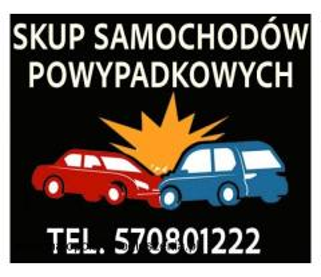 Skup aut powypadkowych, rozbitych, uszkodzonych. Gotówka, minimum formalności. Śląsk Małopolska
