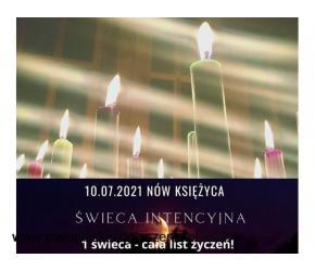 Świeca Intencyjna - Wyślij swoją listę życzeń