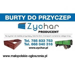 Burty do przyczep - Producent - Transport na terenie całego kraju