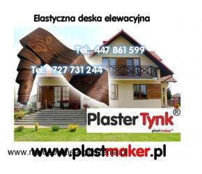 Promocja - PlasterTynk - Elastyczna imitacja drewna na elewacje