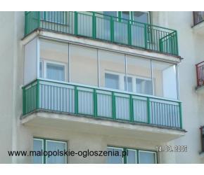 zabudowy balkonów i tarasów - RAMOWE I BEZRAMOWE