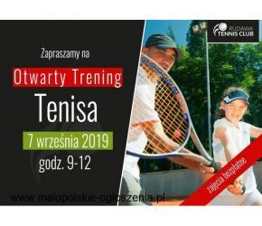 2. Otwarty Trening Tenisa - zajęcia bezpłatne