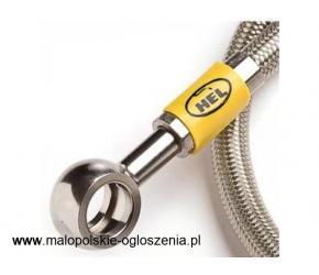 Odpowiedniki gumowych fabrycznie montowanych przewodów. Zbudowane z tworzyw sztucznych pokrytych sta