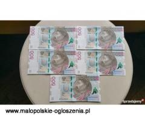 500ZŁ SERIA AA 5 BANKNOTÓW POD RZĄD NOWE BEZ OBIEGU IDEALNE