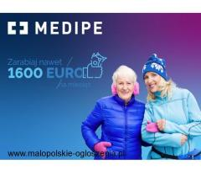 Praca w Niemczech za 1485 EURO/mies. + PREMIA opieka nad Seniorką