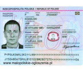 Paszport, Dowód z Wpisem do Rejestru - Nowa Tożsamość!!!