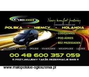 Przewozy Kraków Małopolska do Amsterdamu i Berlina, z adresu pod adres!